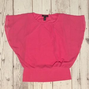 Style & Co Pink Sheer Top (with underlining)🍍